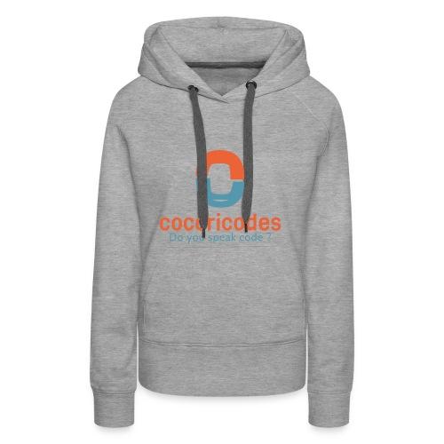 COCORICODES Do you speak code ? - Sweat-shirt à capuche Premium pour femmes