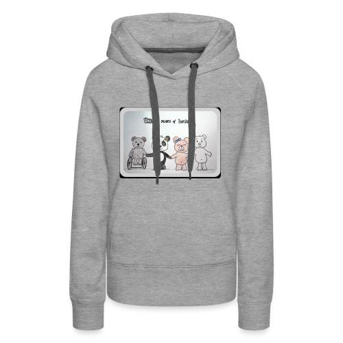United bears of love - Sweat-shirt à capuche Premium pour femmes