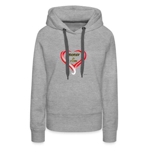 fete mere - Sweat-shirt à capuche Premium pour femmes
