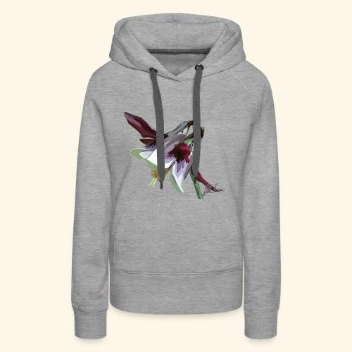 Purple Aquilegia - Women's Premium Hoodie