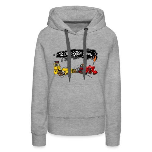 tc de dorstige diesels ACHTERKANT - Vrouwen Premium hoodie