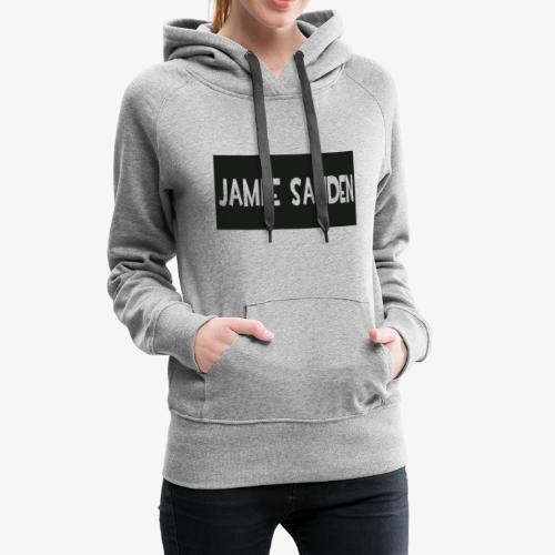 Jamie Sanden Text logo - Premiumluvtröja dam