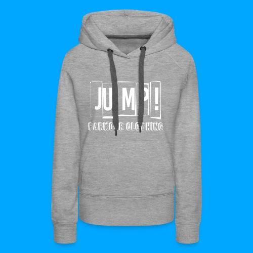BASIC LOGO JUMP WHITE - Sudadera con capucha premium para mujer