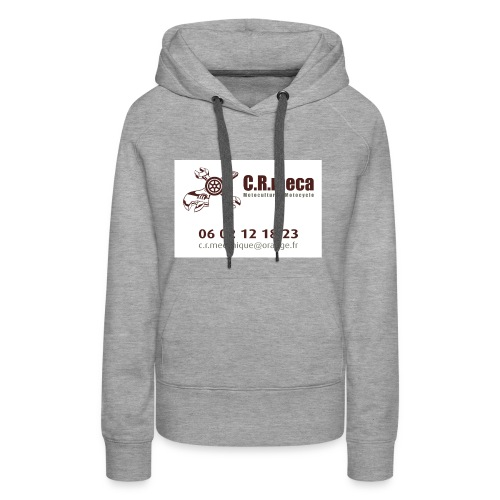 PUB EXT CRmeca - Sweat-shirt à capuche Premium pour femmes