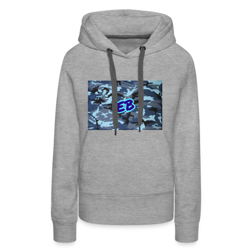Ellibradyoffical blue camo - Women's Premium Hoodie