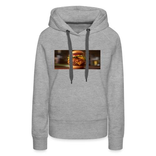 Burger - Dame Premium hættetrøje