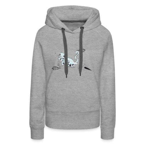 chat de al brume 02 - Sweat-shirt à capuche Premium pour femmes