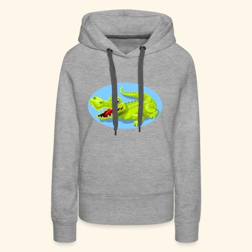 crocodile - Sweat-shirt à capuche Premium pour femmes