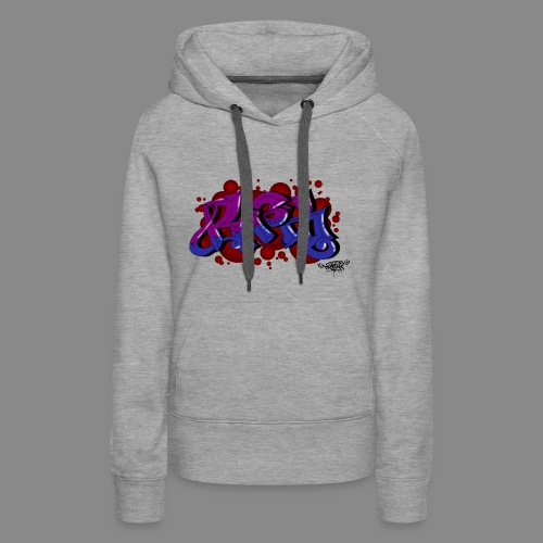 Rasko blue purple bubbles - Frauen Premium Hoodie