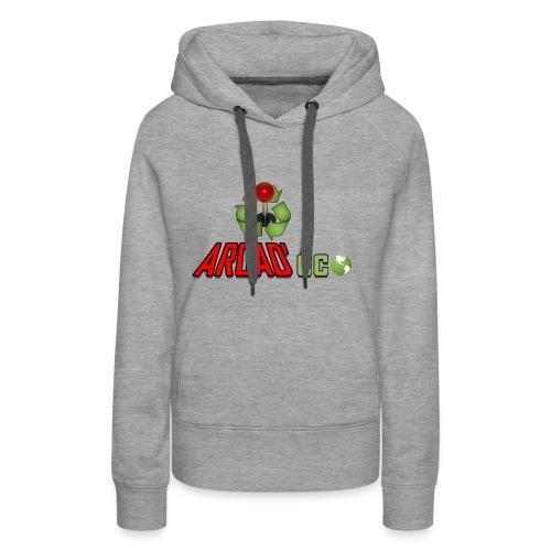 Arcad'eco - Sweat-shirt à capuche Premium pour femmes