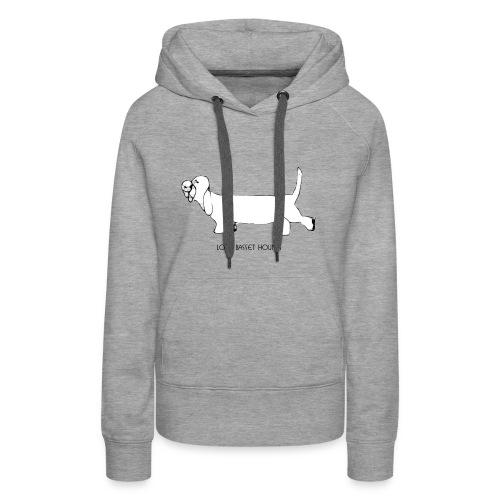 Love basset hounds - Dame Premium hættetrøje