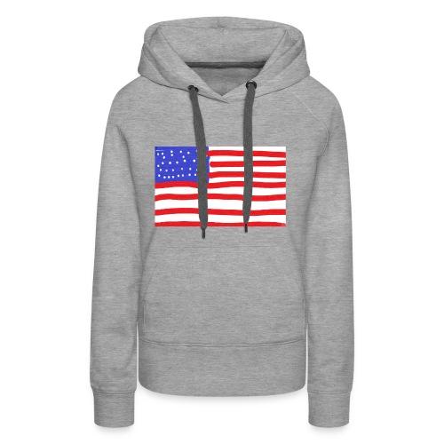 Usa- Flagge - Frauen Premium Hoodie