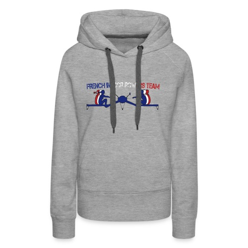 French Indoor Rowers Team - Sweat-shirt à capuche Premium pour femmes