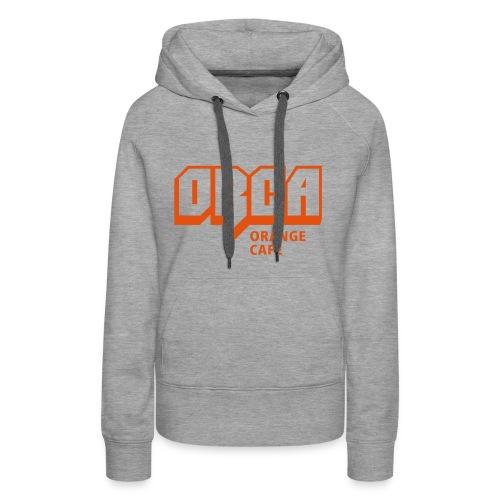 Hoodie mit ORCA-Logo orange - Frauen Premium Hoodie
