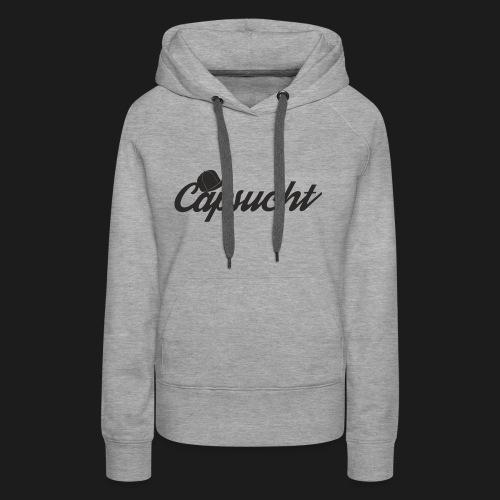 capsucht logo schwarz - Frauen Premium Hoodie