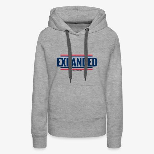 EXPANDED: original logo - Sweat-shirt à capuche Premium pour femmes