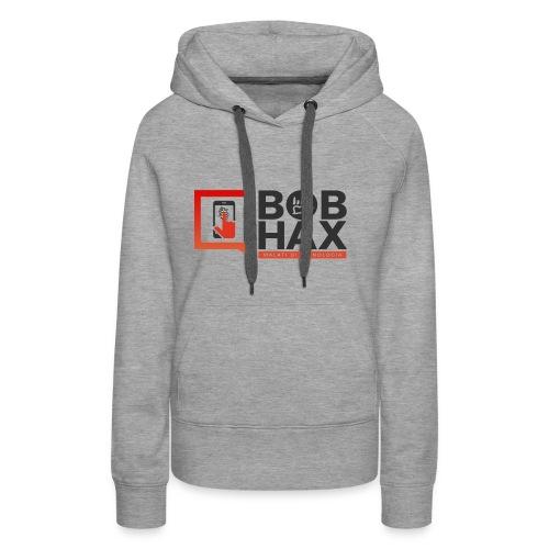LOGO BobHax nero trasp - Felpa con cappuccio premium da donna