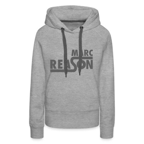 Marc Reason logo klein Grau - Frauen Premium Hoodie