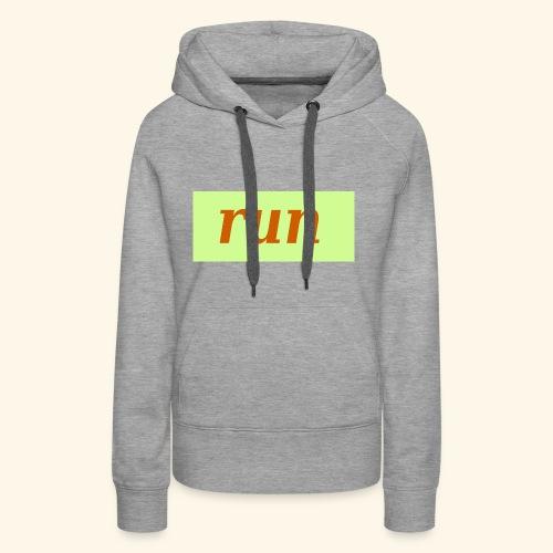 run - Frauen Premium Hoodie