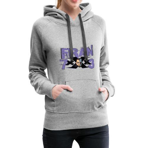 FranxXx73 Morado Twitch - Sudadera con capucha premium para mujer