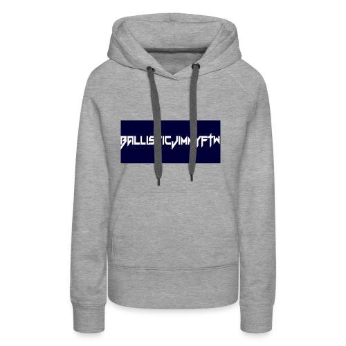 BallisticJimmyFTW Labelled Rectange White - Women's Premium Hoodie