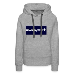 BallisticJimmyFTW Labelled Rectange White - Women's Premium Hoodie