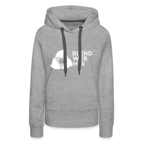 logo bland - Sweat-shirt à capuche Premium pour femmes