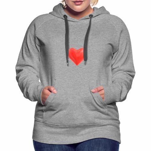 COEUR - Sweat-shirt à capuche Premium pour femmes