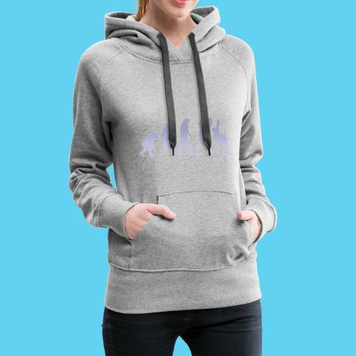 Evolution des wissens Blue - Frauen Premium Hoodie