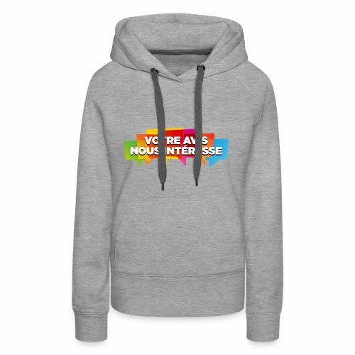 DocZslogan - Sweat-shirt à capuche Premium pour femmes