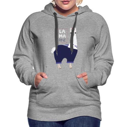 Lama rine - Sweat-shirt à capuche Premium pour femmes
