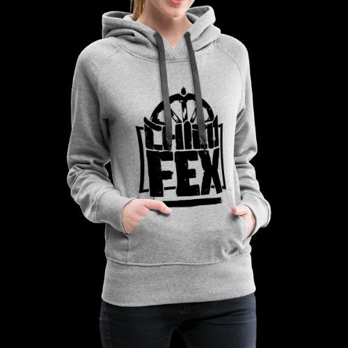 chicofex logo schwarz4000px ai - Frauen Premium Hoodie