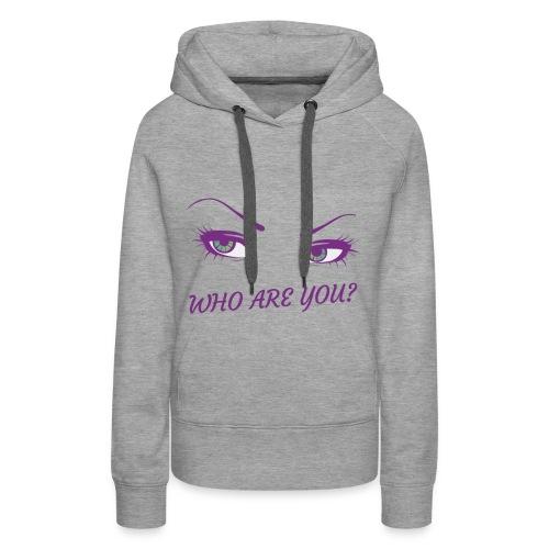 Femme ! Who are you ? - Sweat-shirt à capuche Premium pour femmes