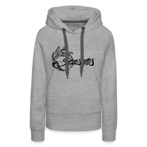 Seasons - Black logo - Sweat-shirt à capuche Premium pour femmes
