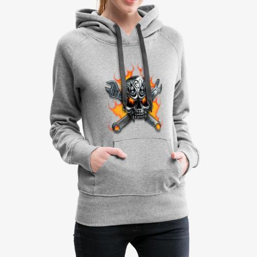 biker style - Sweat-shirt à capuche Premium pour femmes