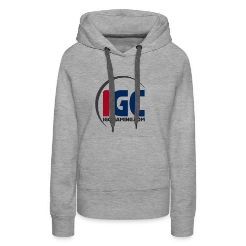 IGC Logo mit Website - Frauen Premium Hoodie