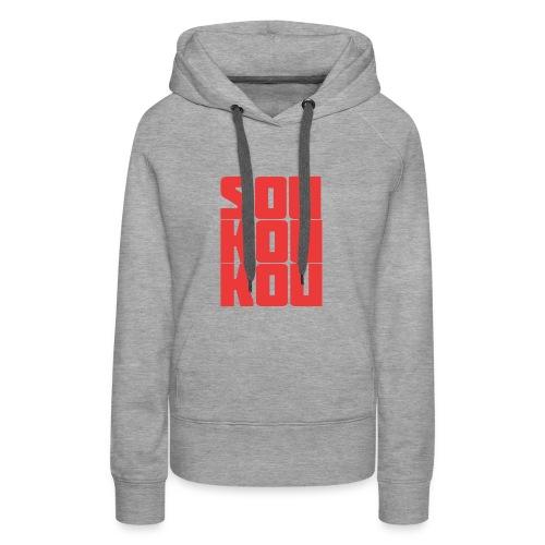 soukoukou Logo - Sweat-shirt à capuche Premium pour femmes