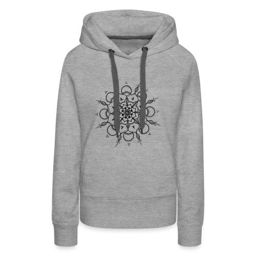 Mandala noir - Sweat-shirt à capuche Premium pour femmes