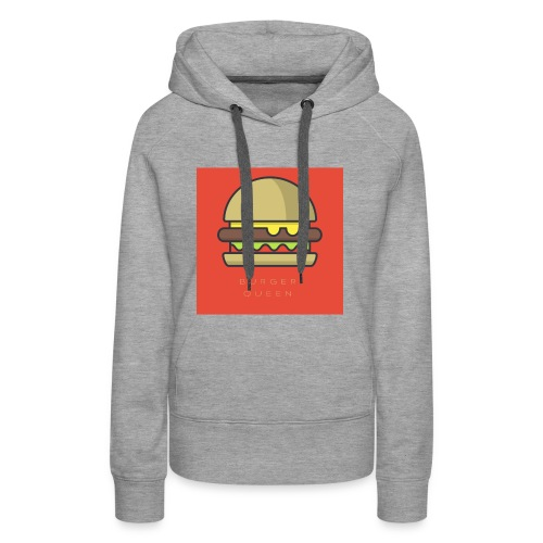 BURGER QUEEN - Sweat-shirt à capuche Premium pour femmes