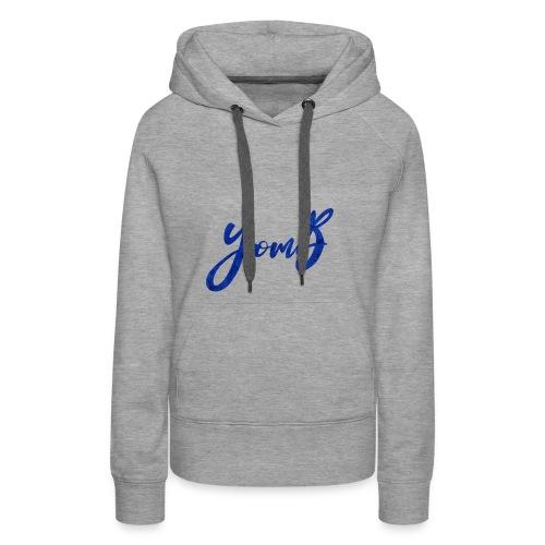 YomB Blue - Sweat-shirt à capuche Premium pour femmes