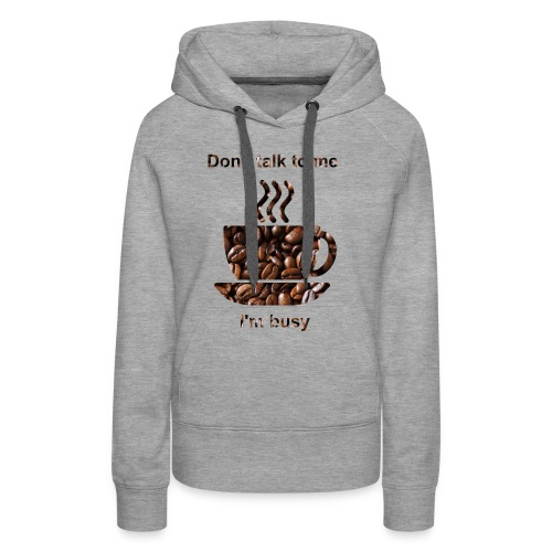 kahvi - Naisten premium-huppari