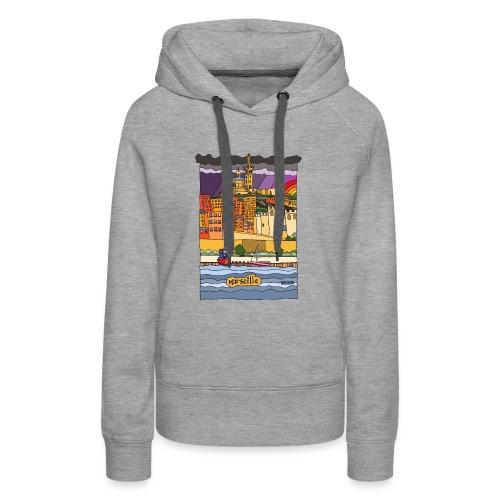Marseille mon amour - Sweat-shirt à capuche Premium pour femmes