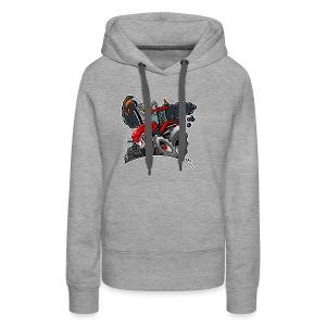TRACTOR white border - Vrouwen Premium hoodie