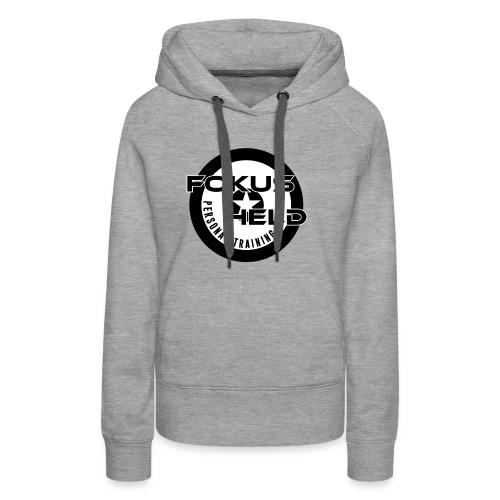 black&white FOKUS HELD - Frauen Premium Hoodie