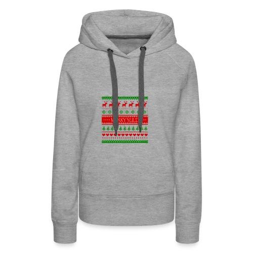 merry yule - Sweat-shirt à capuche Premium pour femmes