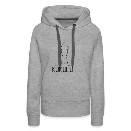 kukulut torre kukulut davant - Sudadera con capucha premium para mujer