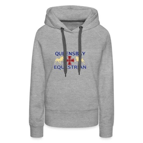 Queensbay Equestrian logo - Vrouwen Premium hoodie