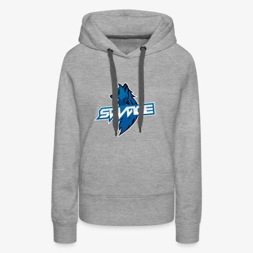 Blue Logo Savage Wolf - Women's Premium Hoodie