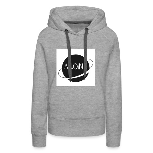 Alone planet white background - Women's Premium Hoodie