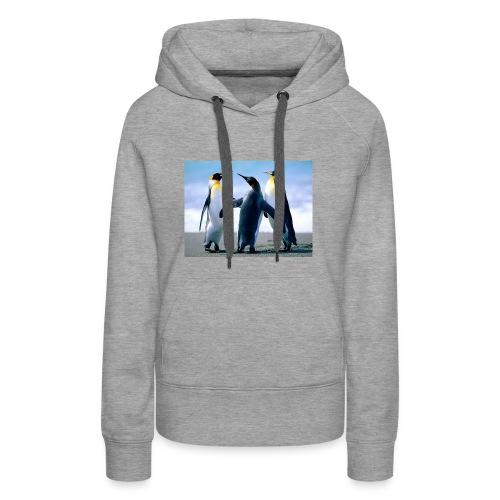 Penguins - Felpa con cappuccio premium da donna